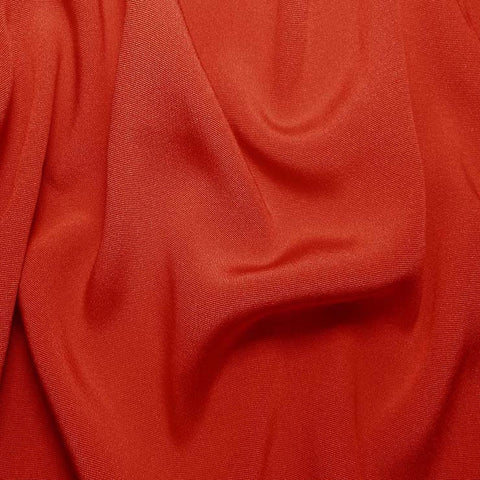 Silk Crepe Back Satin Cayenne Red