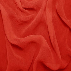 Silk Crinkle Chiffon Blood Orange