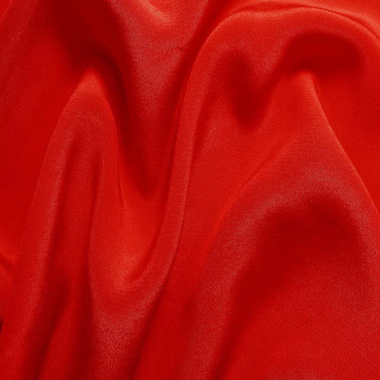 Silk Crepe de Chine Blood Orange