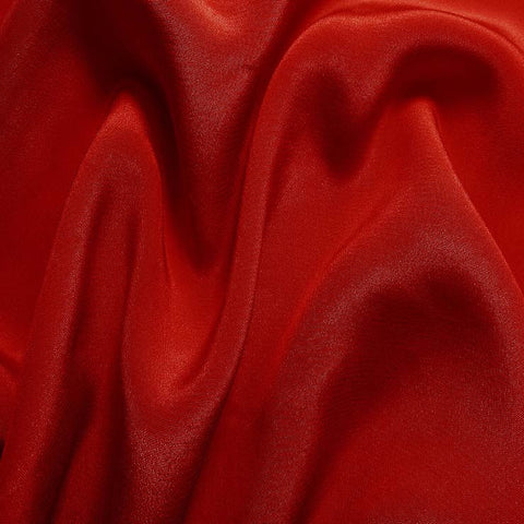 Silk Crepe de Chine Brick Red