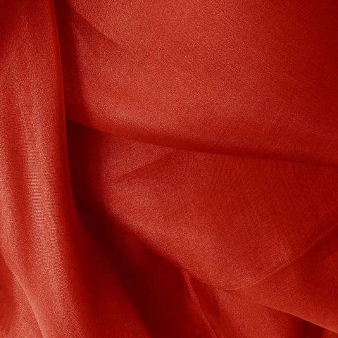 Silk Organza Brick Red