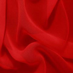 Silk Chiffon Brick Red