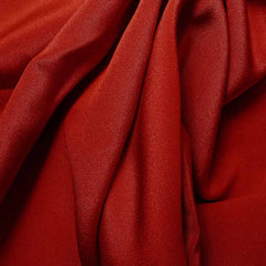 Silk 4 Ply Woven Crepe Crimson Red