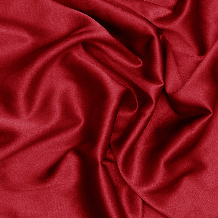 Silk Charmeuse Crimson Red