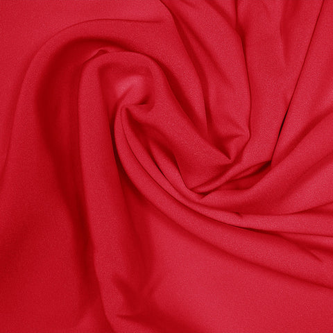 Silk Stretch 4 Ply Crepe Crimson Red