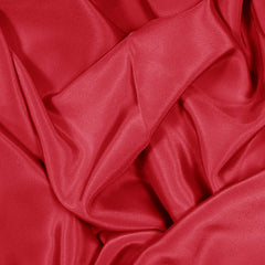 Silk Stretch Crepe De Chine Crimson Red