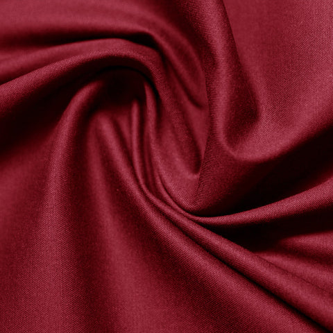 Cotton Stretch Sateen 269 Crimson - NY Fashion Center Fabrics