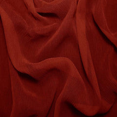 Silk Crinkle Chiffon Crimson Red