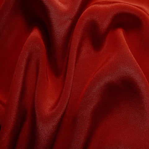 Silk Crepe de Chine Crimson Red