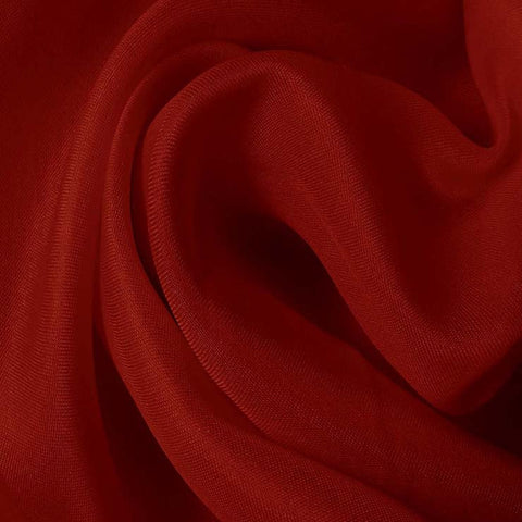 Silk Satin Face Organza Crimson Red