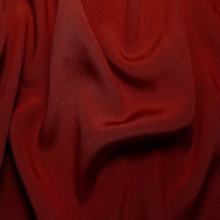 Silk Crepe Back Satin Crimson Red