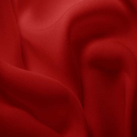 Silk Double Georgette Crimson Red