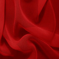 Silk Chiffon Crimson Red