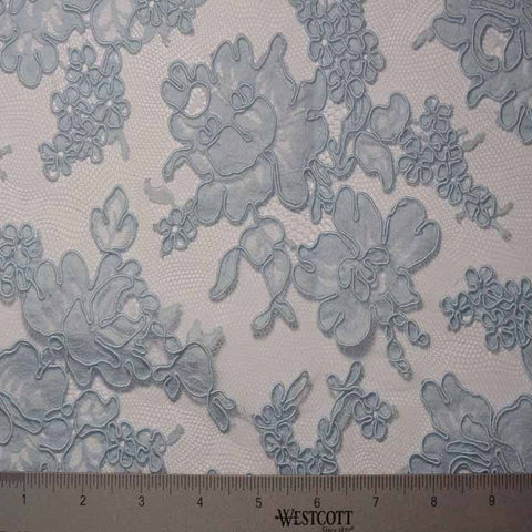 Alencon Lace #15 27 12060R 36 LTBlue - NY Fashion Center Fabrics