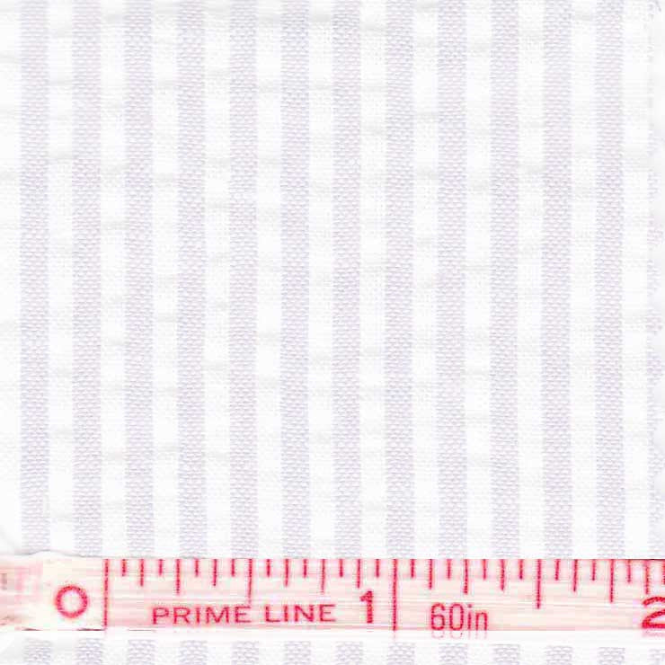 Cotton Blend Seersucker - 30 Yard Bolt 27 Narrow White - NY Fashion Center Fabrics