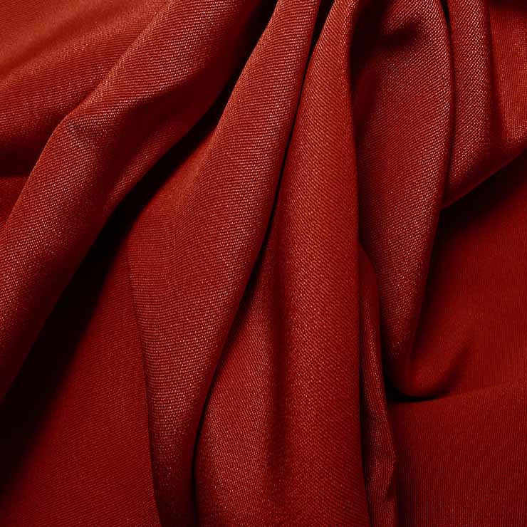 Silk 4 Ply Woven Crepe Garnet Red