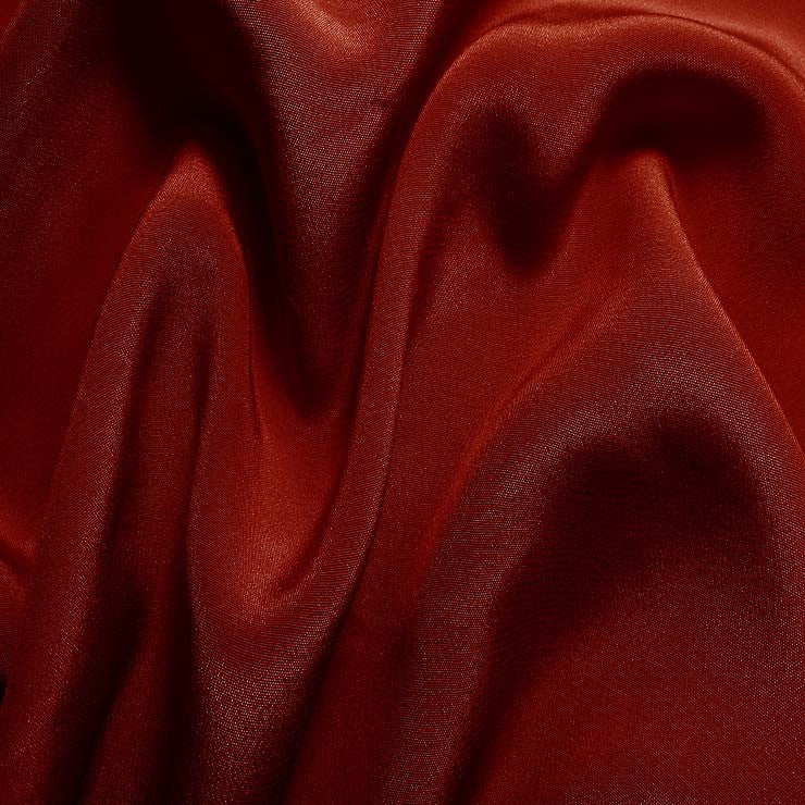 Silk Crepe de Chine Garnet Red