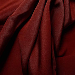 Silk 4 Ply Woven Crepe Burgundy