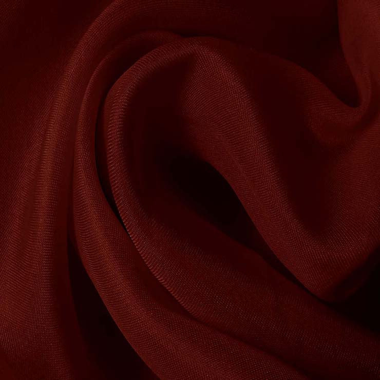 Silk Satin Face Organza Burgundy