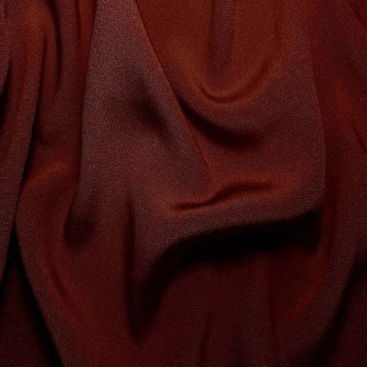 Silk Crepe Back Satin Burgundy