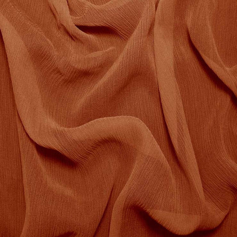 Silk Crinkle Chiffon Copper
