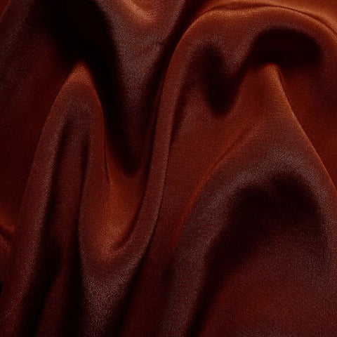 Silk Crepe de Chine Red Clay