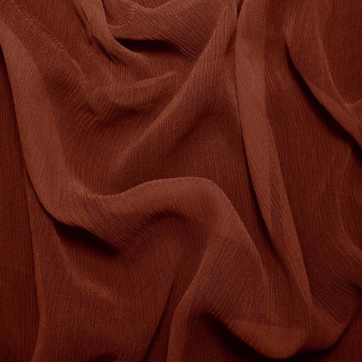 Silk Crinkle Chiffon Red Clay