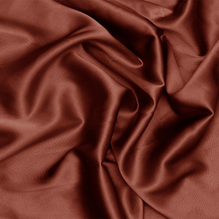 Silk Stretch Charmeuse Red Clay