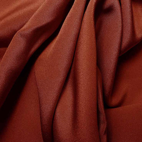 Silk 4 Ply Woven Crepe Red Clay