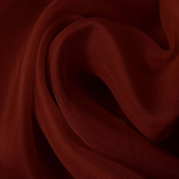 Silk Satin Face Organza Red Clay