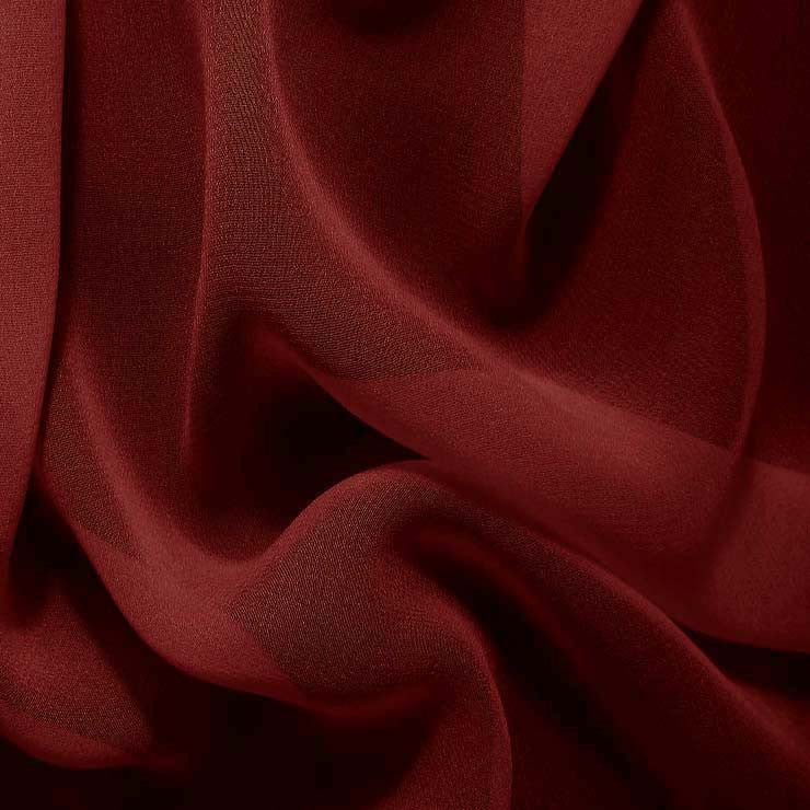 Silk Chiffon Red Clay