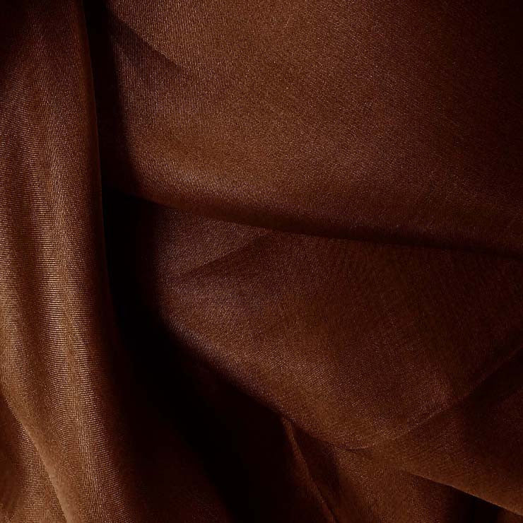 Silk Organza Brown Mahogany