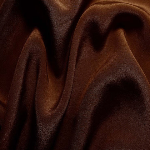 Silk Crepe de Chine Brown Mahogany