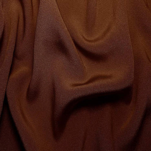 Silk Crepe Back Satin Brown Mahogany
