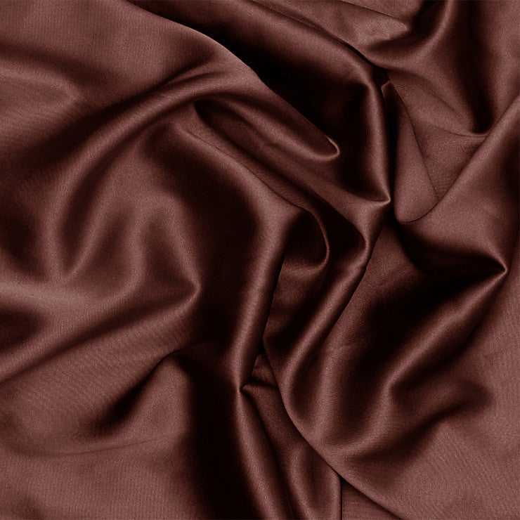 Silk Charmeuse Brown Mahogany