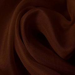 Silk Satin Face Organza Brown Mahogany