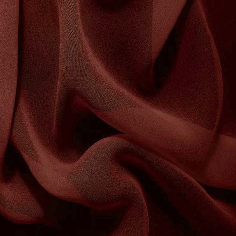 Silk Chiffon Brown Mahogany