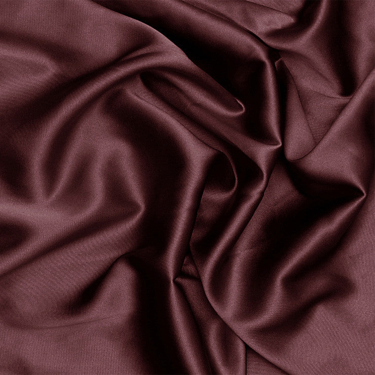 Silk Stretch Charmeuse Red Mahogany