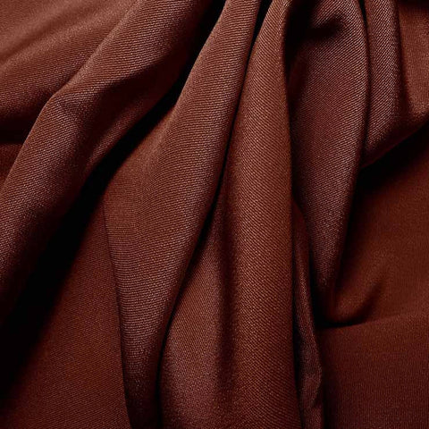 Silk 4 Ply Woven Crepe Red Mahogany