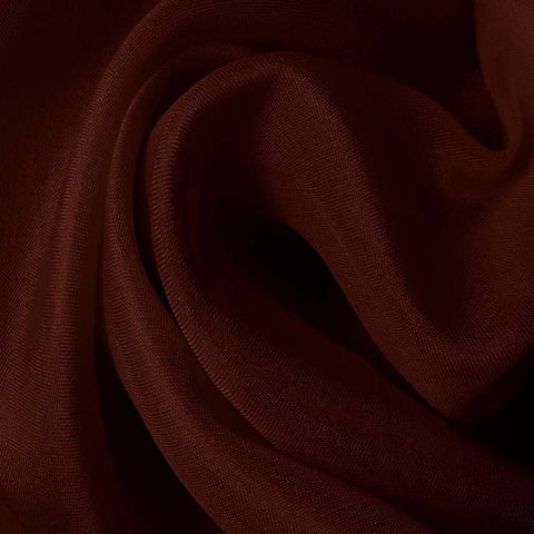 Silk Satin Face Organza Red Mahogany
