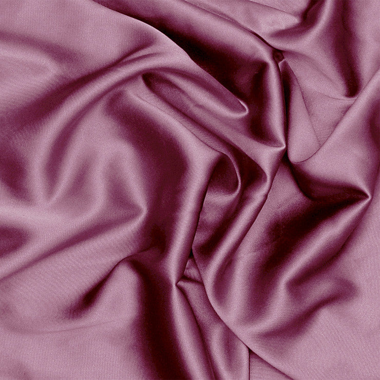 Silk Stretch Charmeuse Mauve Shadow