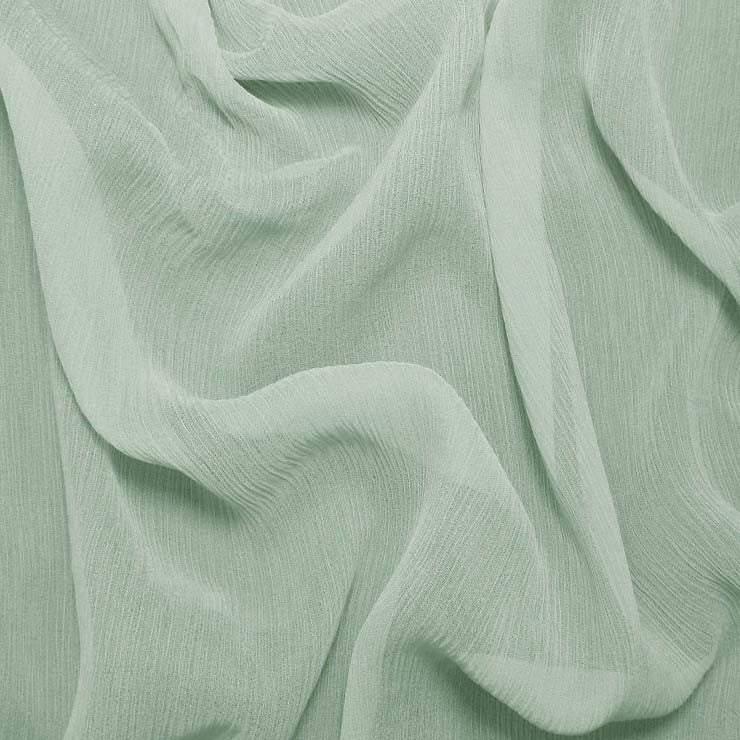 Silk Crinkle Chiffon Whisper Green