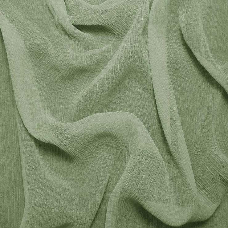 Silk Crinkle Chiffon Green Tea