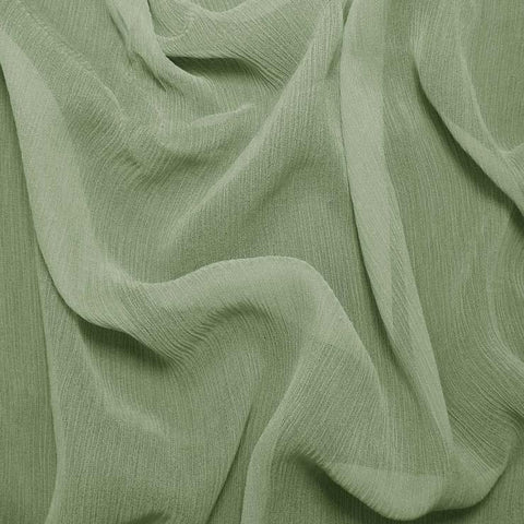 Silk Crinkle Chiffon Green Tea Sale