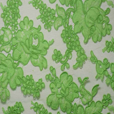 Alencon Lace #16 28 12060r 36 Lime - NY Fashion Center Fabrics