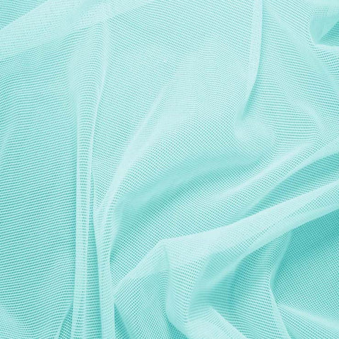 Nylon/Spandex Sheer Stretch Mesh 28 AquaMarine - NY Fashion Center Fabrics
