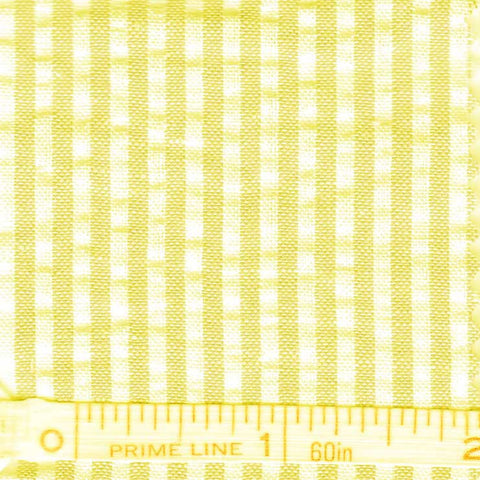 Cotton Blend Seersucker - 30 Yard Bolt 28 Narrow Yellow - NY Fashion Center Fabrics