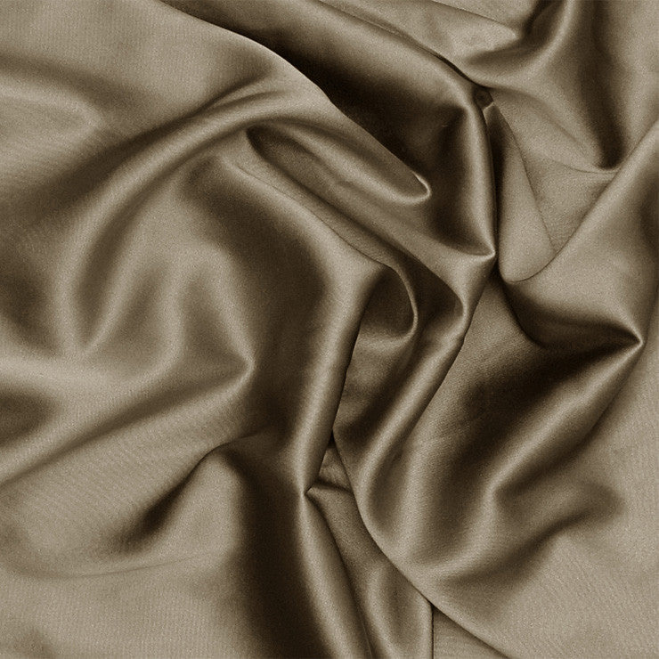 Silk Stretch Charmeuse Walnut Brown