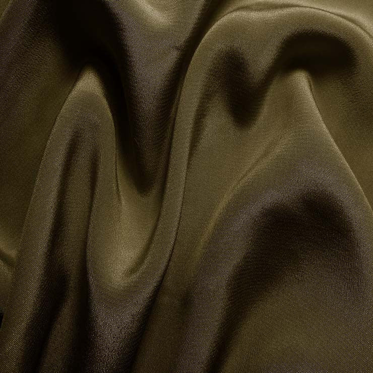 Silk Crepe de Chine Walnut Brown