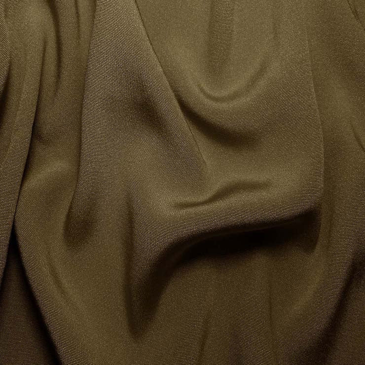 Silk Crepe Back Satin Walnut Brown